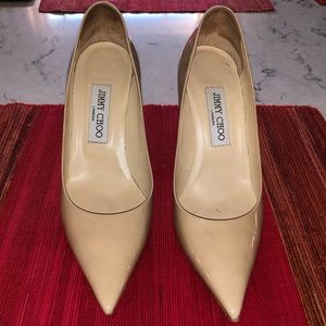 Jimmy Choo Love 85 Nude Patent Leather